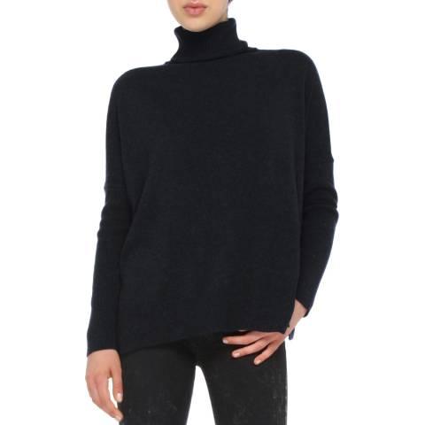 Love Cashmere Black Cashmere Blend Oversized Jumper