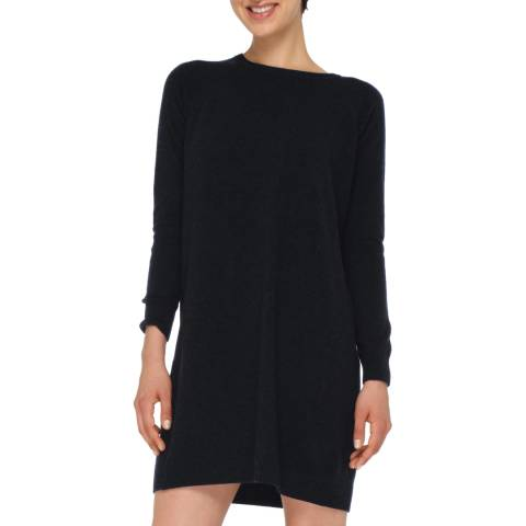 Love Cashmere Black Cashmere Blend Long Sleeve Dress
