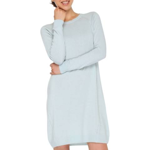 Love Cashmere Light Blue Cashmere Blend Raglan Long Sleeve Dress