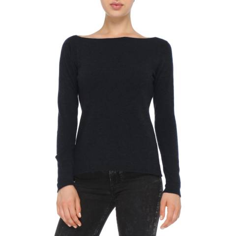 Love Cashmere Black Cashmere Blend Jumper