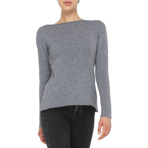 Love Cashmere Grey Cashmere Blend Jumper