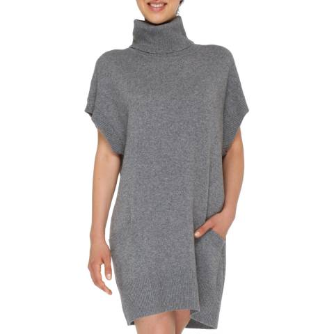 Love Cashmere Grey Cashmere Blend Turtleneck Dress