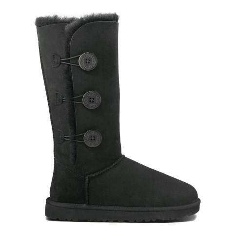 UGG Womens Black Nubuck Bailey Button Tall