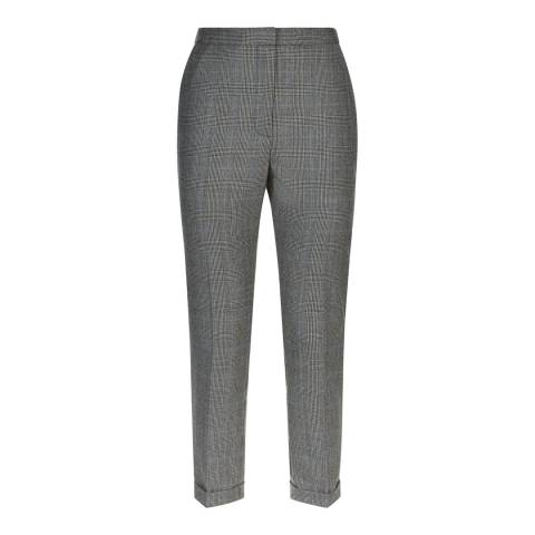 Jaeger Grey Wool Prince of Wales Trousers