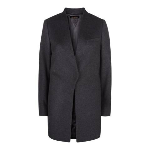 Jaeger Grey Wool/Cashmere Blend Coat