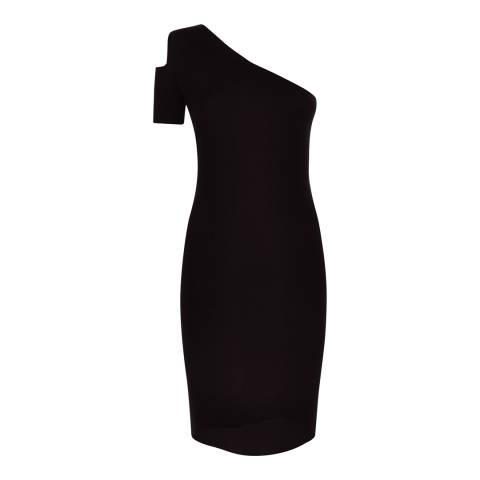 Jaeger Black Cut Out Knitted Dress