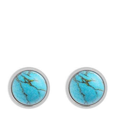Alexa by Liv Oliver Silver Turquoise Post Earrings