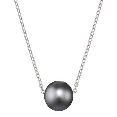 White label by Liv Oliver Silver/Grey Pearl Necklace