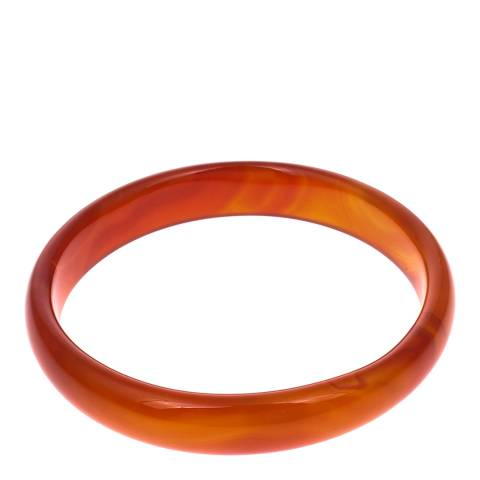 Alexa by Liv Oliver Orange Agate Bangle