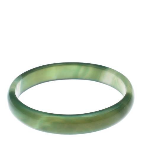 Alexa by Liv Oliver Green Agate Bangle
