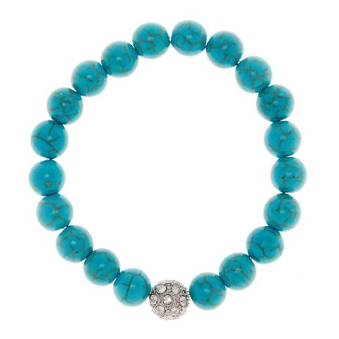 Alexa by Liv Oliver Turquoise and Crystal Bracelet