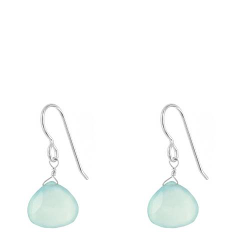 Alexa by Liv Oliver Sea Green Chalcedony Drop Earrings
