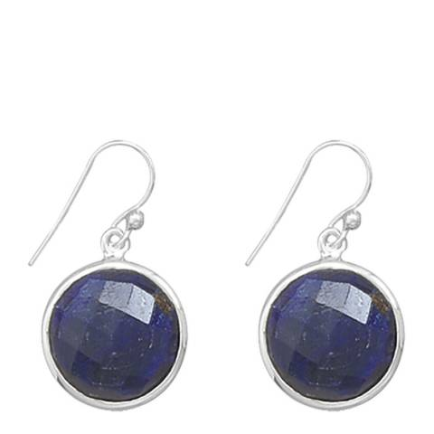 Alexa by Liv Oliver Sterling Silver Sapphire Drop Earrings