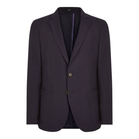 Jaeger Navy Silk/Linen Blend Modern Jacket