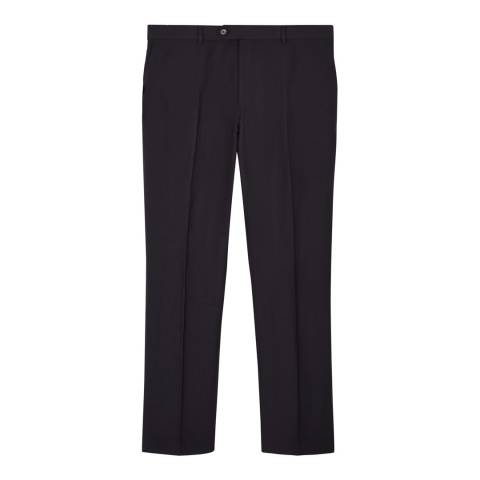 Jaeger Navy Silk Linen Blend Trousers
