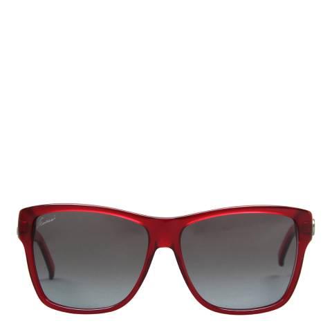 Gucci Unisex Transparent Red/Blue Sunglasses 58mm