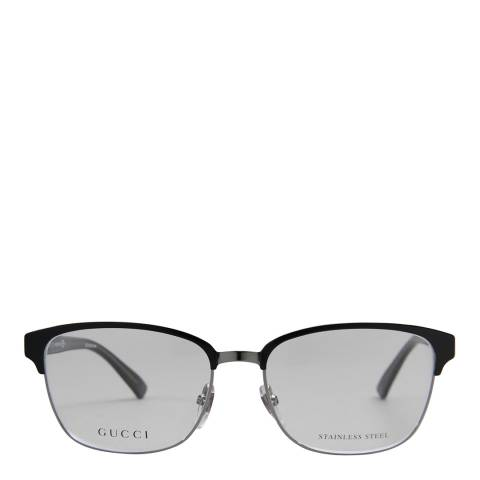 Gucci Women's Black/Silver Optical Frames 54mm