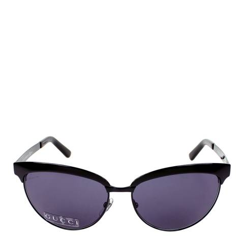 Gucci Women's Shiny Black Sunglasses 59mm