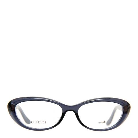 Gucci Women's Dark Blue/Gold Diamond Glasses 52mm