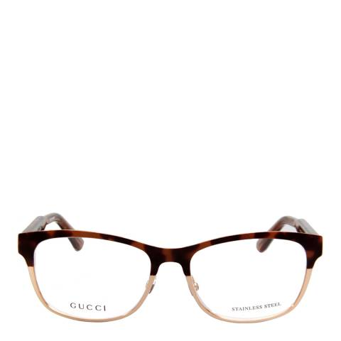 Gucci Women's Light Brown/Gold Optical Frames 53mm