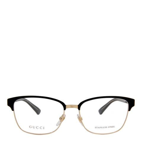 Gucci Women's Black/Gold Glasses 54mm