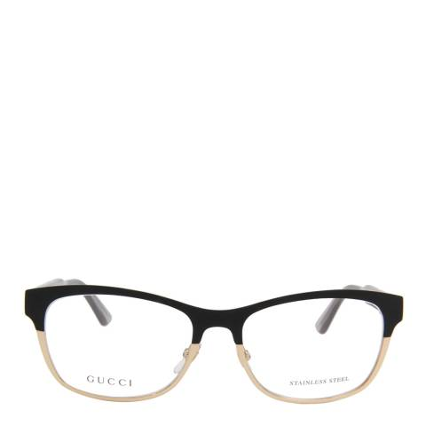 Gucci Women's Black/Gold Optical Frames 53mm