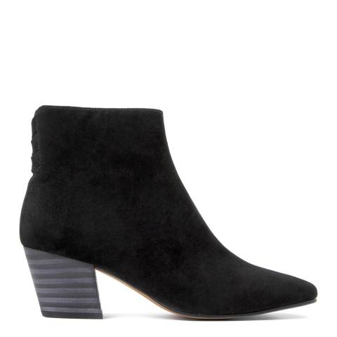 Hudson Black Leather Rosetta Ankle Boots