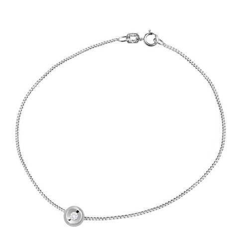 Only You Silver Venitienne Link Cross Diamond Bracelet 0.05cts