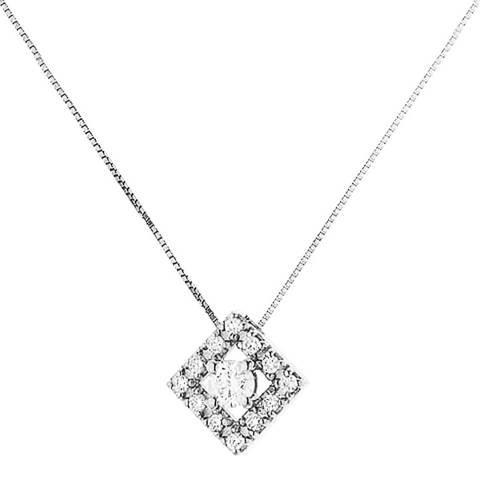 Pretty Solos White Gold Diamond Necklace 0.15cts