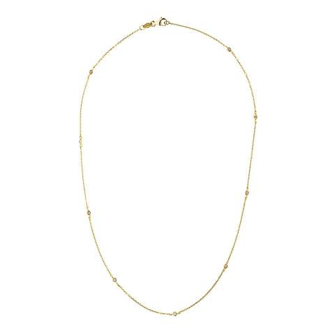 Pretty Solos Yellow Gold Diamond Necklace 0.10cts
