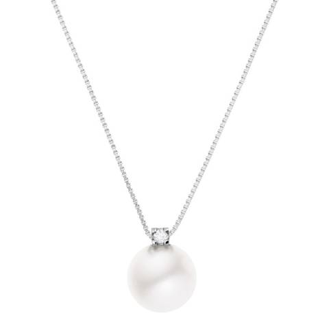 Only You Silver Venitienne Link Fresh Water Pearl Necklace 0.03cts