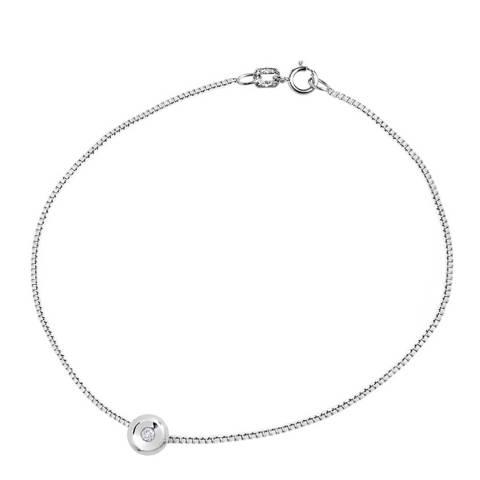 Only You Silver Venitienne Link Diamond Cross Bracelet 0.03cts