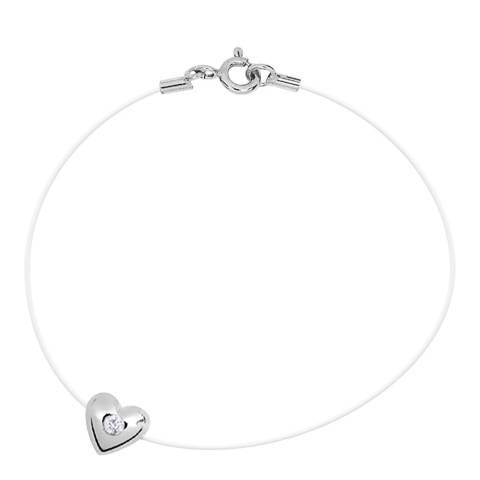 Dyamant Transparent String Heart Diamond Bracelet 0.03cts