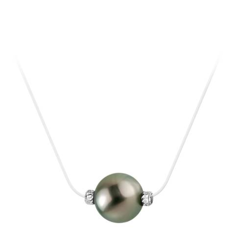 Diamant & Argent White Twisted Tahiti Pearl Necklace