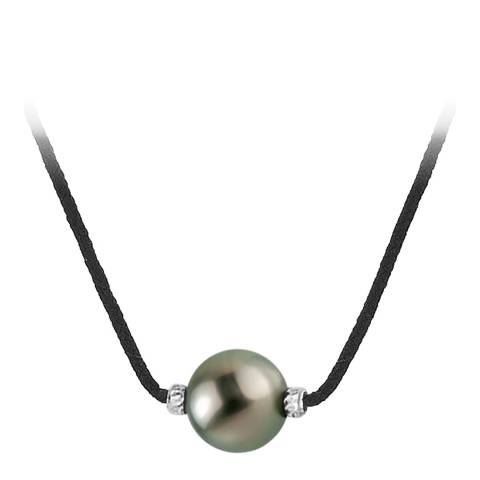 Pretty Solos Black Twisted Tahiti Pearl Necklace