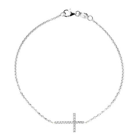 Only You Silver Cross Motive Diamond Bracelet 0.15cts