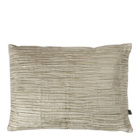 Gallery Gold Calsite Metallic Pleated Cushion 35x50cm