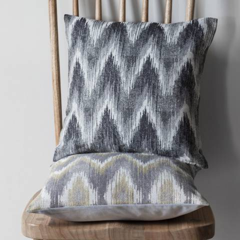 Gallery Chartreuse/Grey Kalsi Zig Zag Cushion 45x45cm