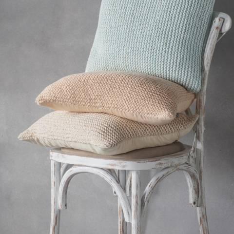 Gallery Cream Opal Knitted Cushion 45x45cm