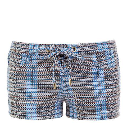 Melissa Odabash Blue/Black Shelly Shorts