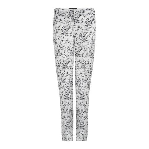 SuperTrash Off White Printed Slouchy Trousers