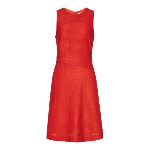 Reiss Clementine Red Magda Textured Dress