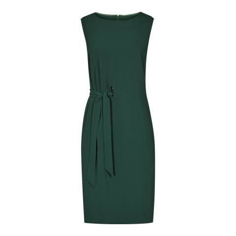 Reiss Green Libra Slash Neck Dress