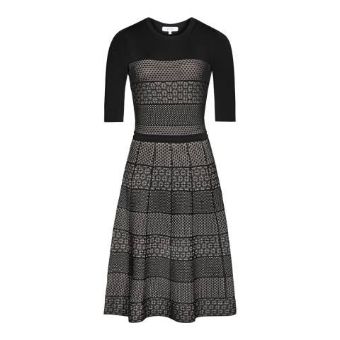 Reiss Black Knitted Alithia Dress