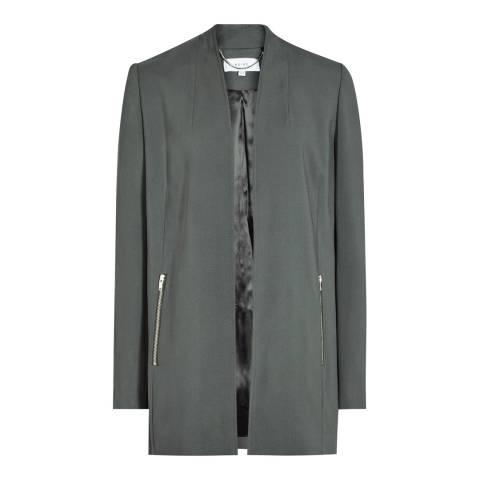 Reiss Green Collarless Joy Jacket