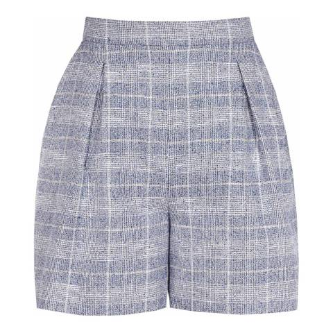 Reiss Blue/Off White Jada Checked Short
