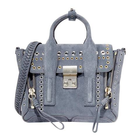3.1 Phillip Lim Ash Blue Medium Pashli Eyelet Suede Bag