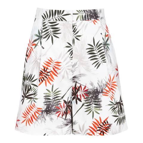 Reiss White/multi Cotton Blend Printed Shorts