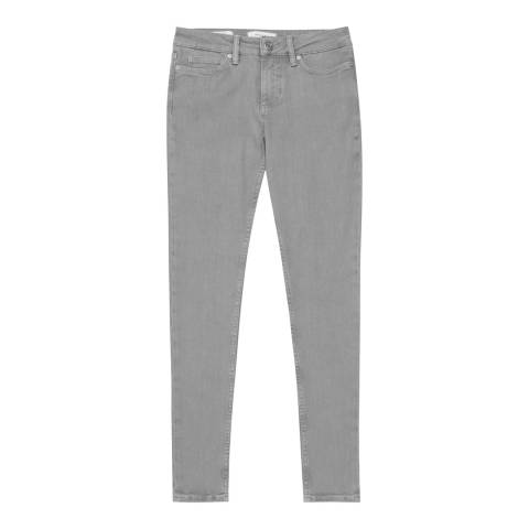 Reiss Grey Stevie Skinny Stretch Jeans