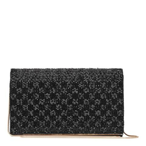 Reiss Black Mini Bugle Beaded Evening Bag